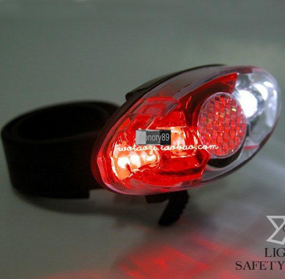 NEW 4 LED Cycling BICYCLE bike safety LIGHT Waterproof